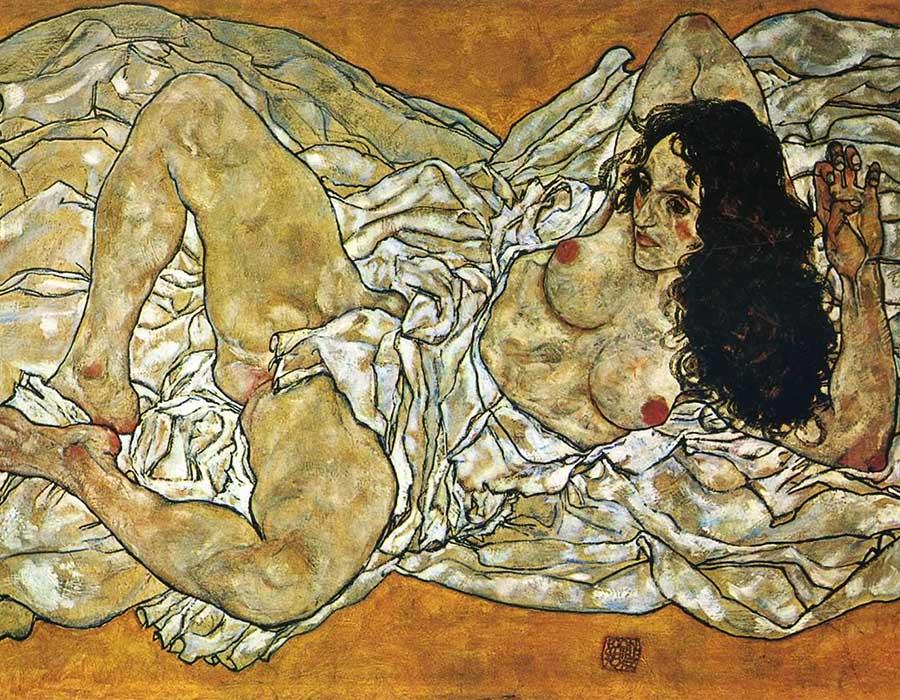 Egon Schiele: Mulher reclinada