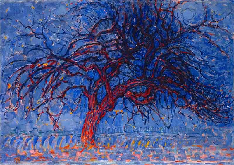 Piet_Mondrian,_1908-10,_Evening;_Red_Tree_(Avond;_De_rode_boom),_oil_on_canvas,_70_x_99_cm,_Gemeentemuseum_Den_Haag