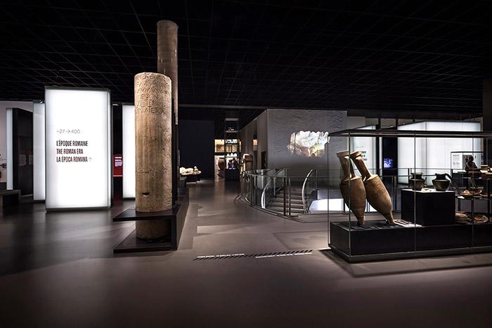 parte interna do Musée de la Romanité