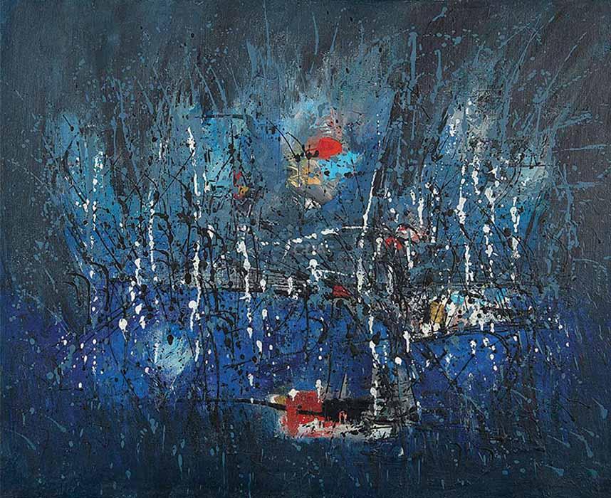 arte abstrata; antônio Bandeira; Paisagem Agreste (1959)
