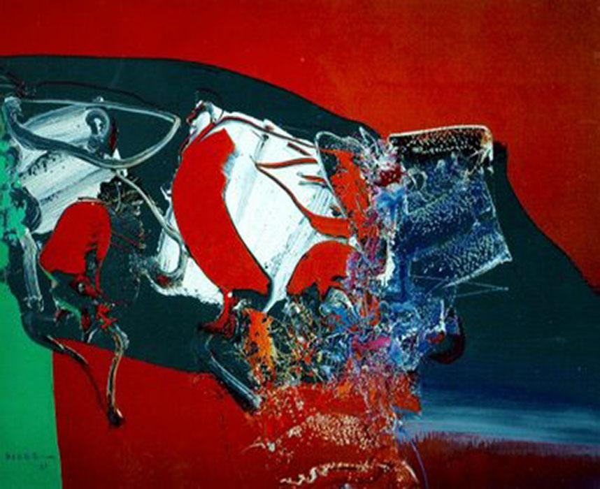 arte abstrata; manabu mabe; Sem título (1985)