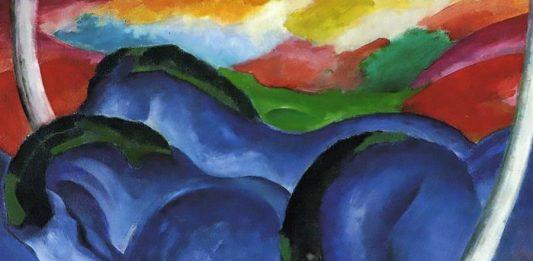 Der Blaue Reiter (1903) Artista: Wassily Kandinsky Óleo sobre tela - coleção par