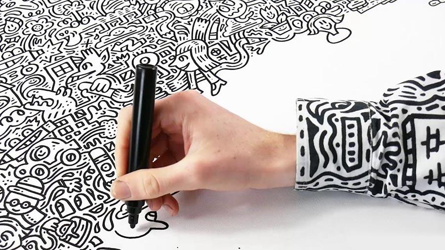 mr doodle detalhe