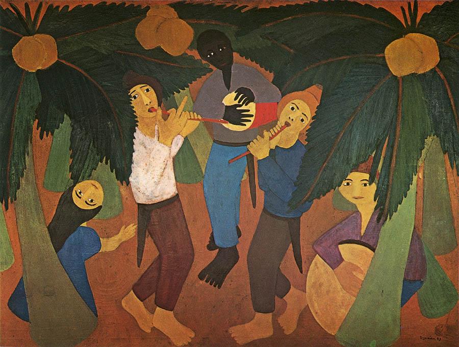 Caboclinhos, Djanira (1962) [Museu Nacional de Belas Artes - Rio de Janeiro, RJ]
