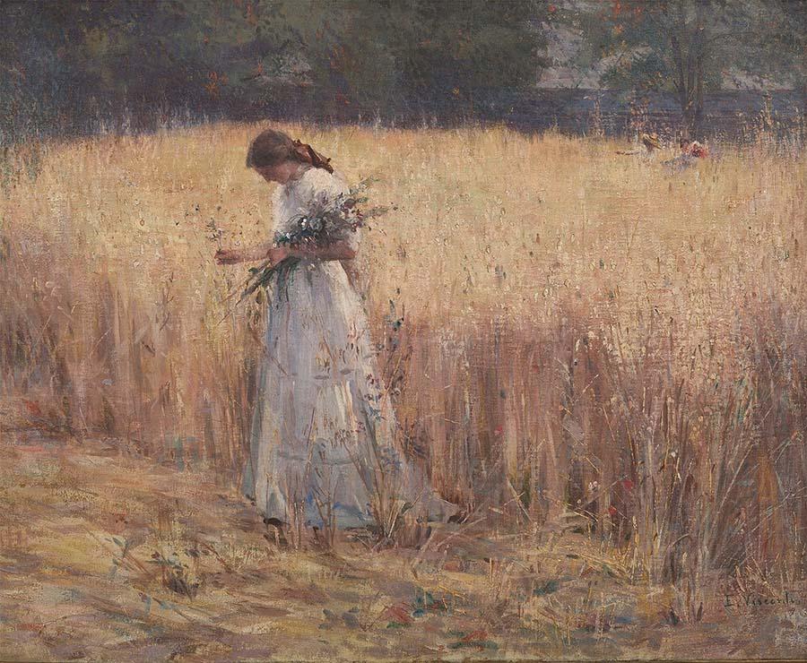 Eliseu Visconti, MOÇA NO TRIGAL – c.1916