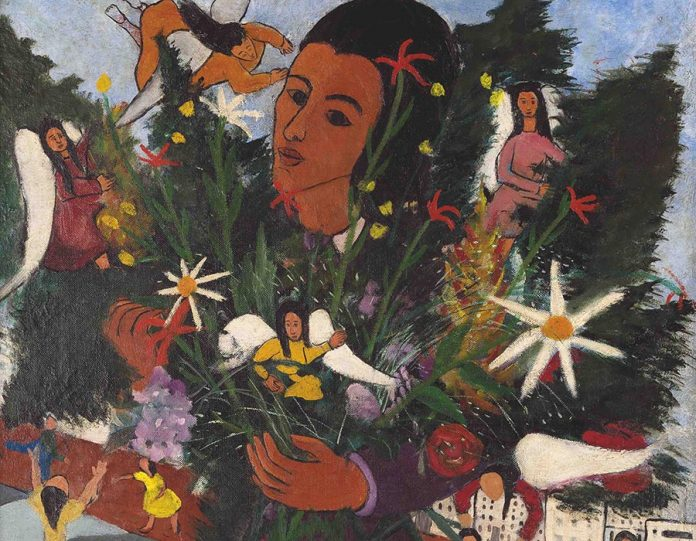 Vendedora de flores (parcial) 1947