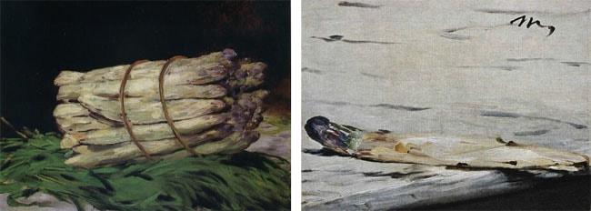 Aspargos por Manet