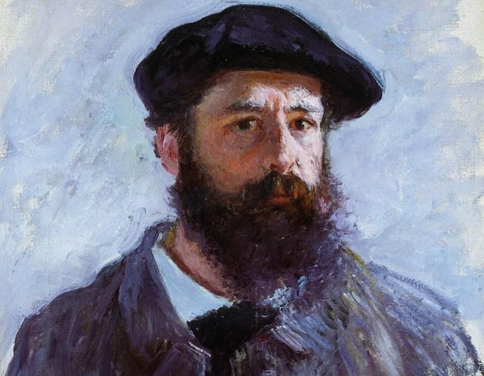 monet: Self Portrait with a Beret 1886