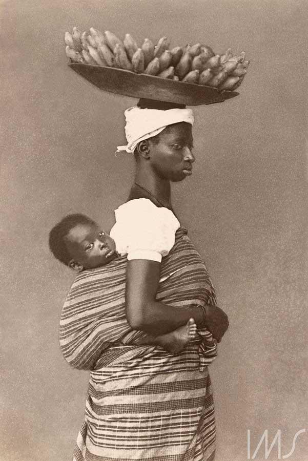 Negra com seu filho, c. 1884. Salvador
