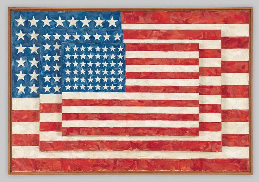 jasper john three flags