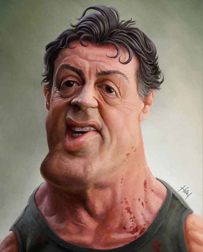 sylvester-stallone-caricature-drawing-hosel