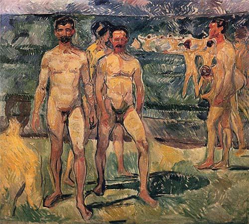 Edvard Munch - Homens tomando banho (1907)
