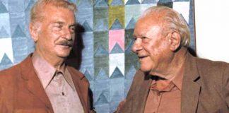 Bruno Giorgi e Alfredo Volpi em exposição de Volpi. Foto: Divulgação