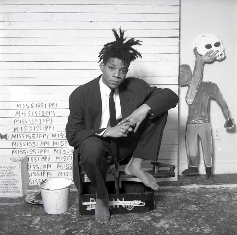 Basquiat usando Armani