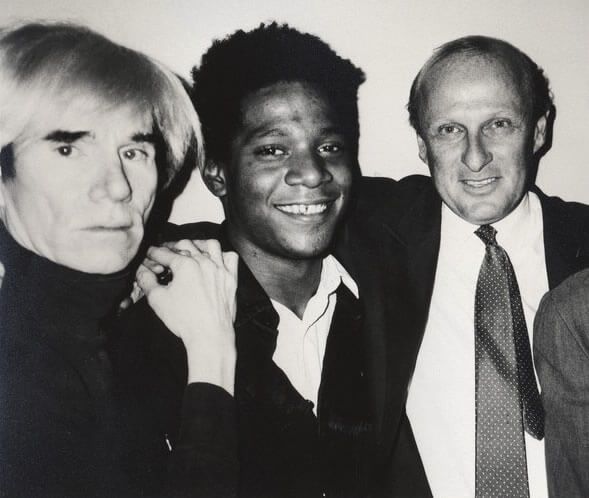 Basquiat e Warhol com Bruno Bischofberger