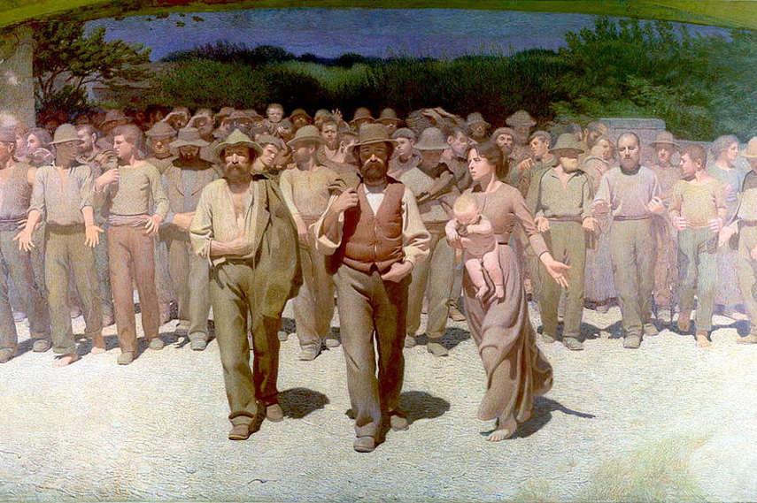 Guiseppe-Pellizza-da-Volpedo-ll-Quarto-Stato-1901