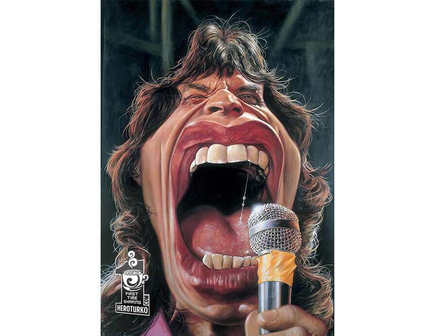 Mick-Jagger-dos-Rolling-Stones-Caricatura-JAM-