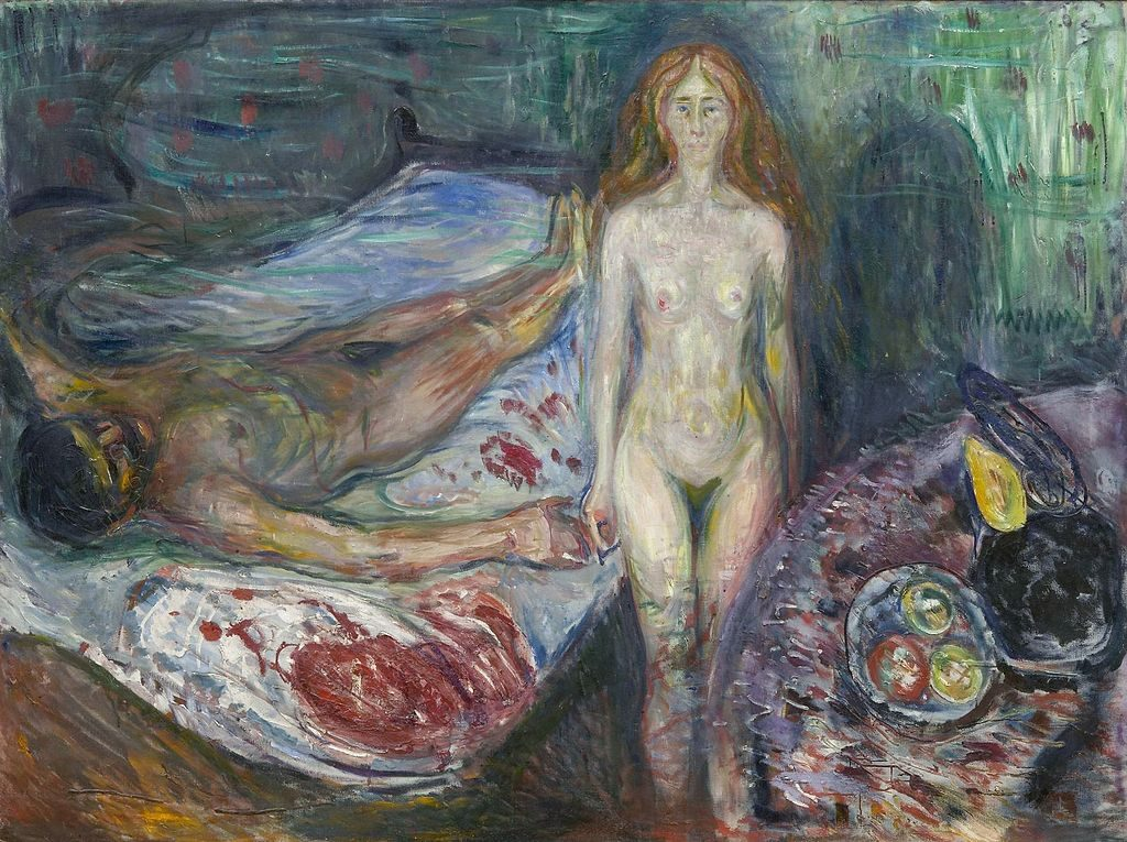 Munch Der Toddes Marat, 1907