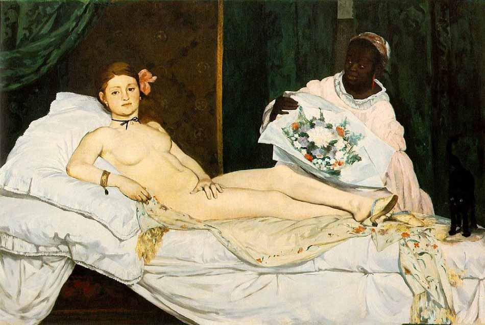 obras; Olmpia-by-Edouard-Manet-painting