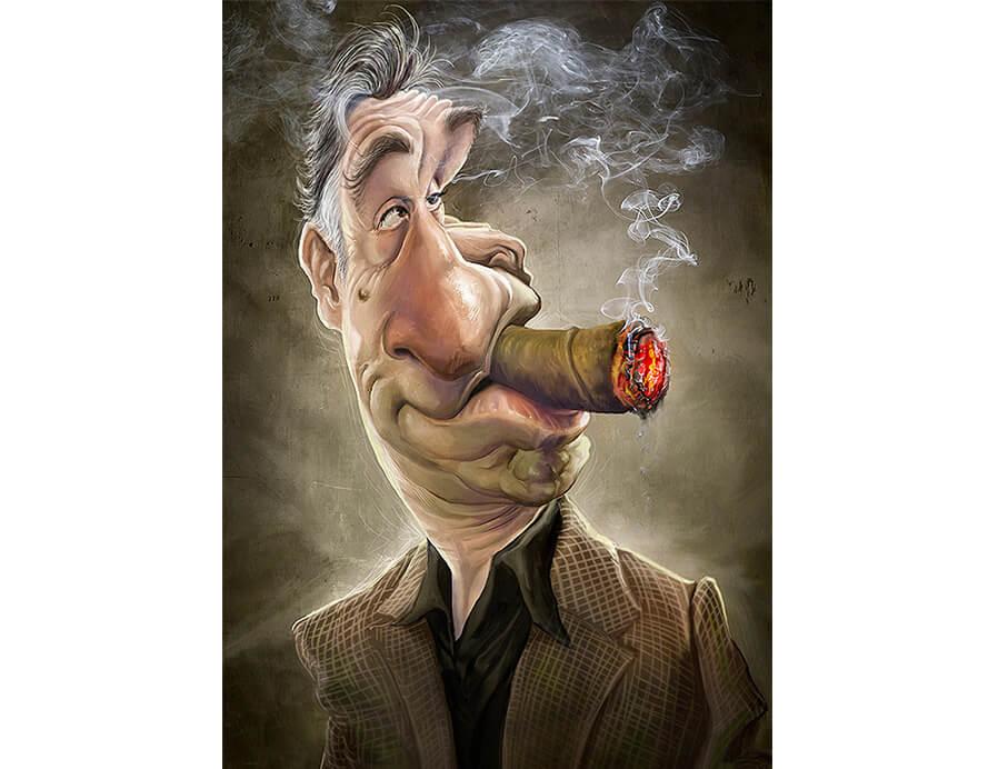 Robert-De-Niro-Caricatura-Jason-Seiler-
