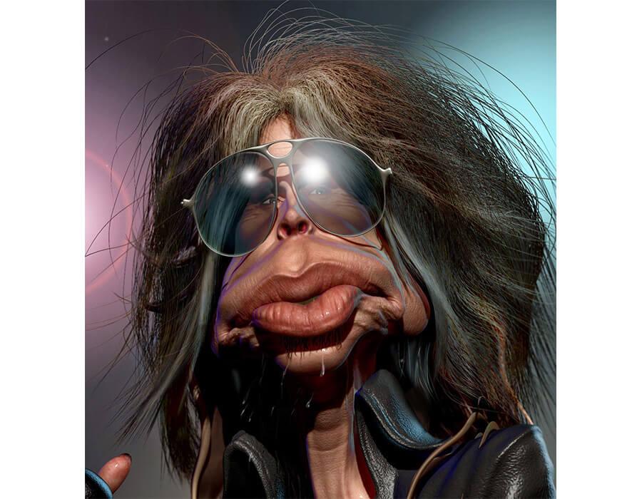 Steven-Tyler-da-Banda-Aerosmith-Caricatura-B.-Petry-