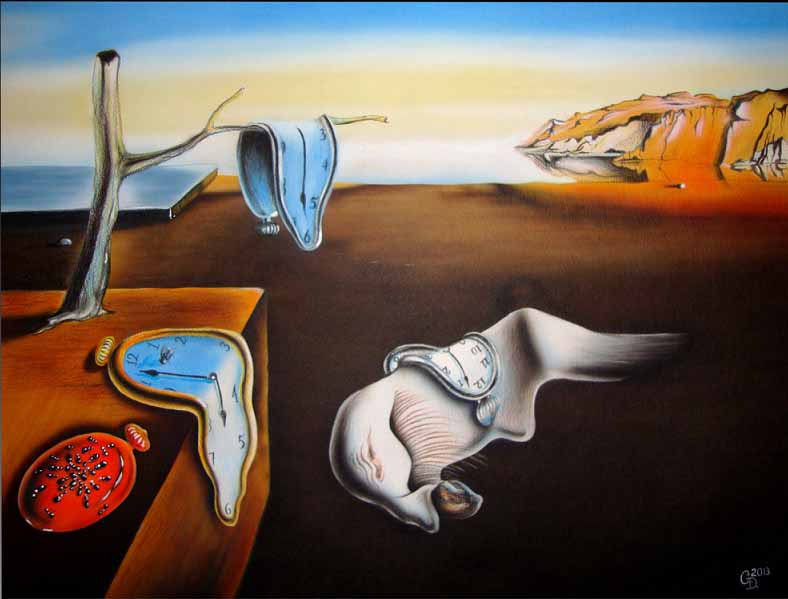 The-Persistence-of-Memory-salvador-deli-painting