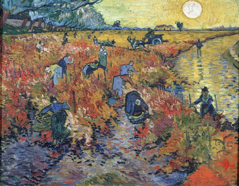 Os vinhedos vermelhos em Arles, 1888, por Vincent van Gogh