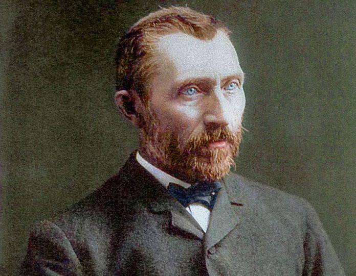 Fotografia colorizada de Vincent van Gogh feita em Janeiro de 1886