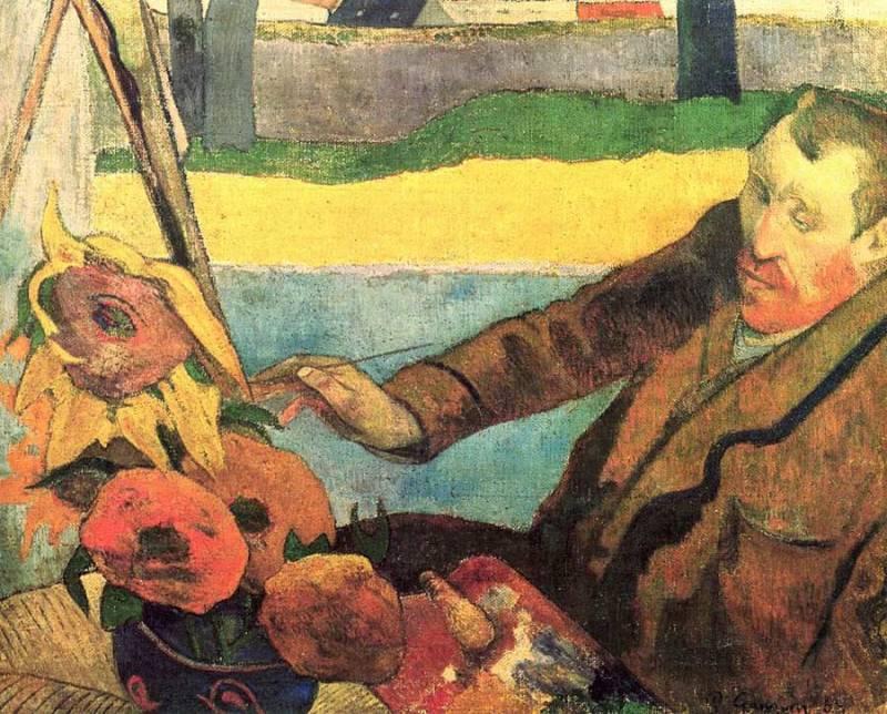 Retrato de Van Gogh por Paul Gauguin