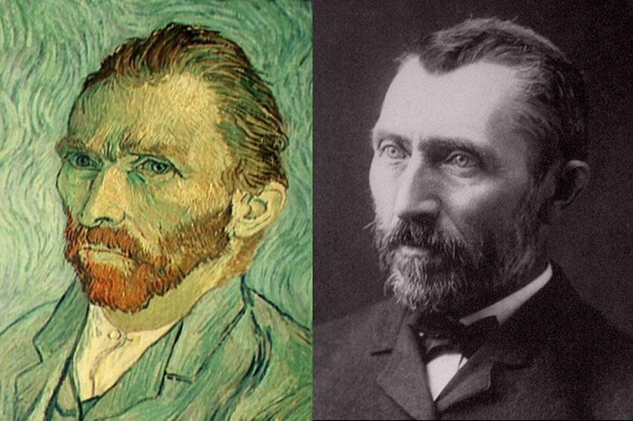 Auto-retrato e fotografia de Van Gogh
