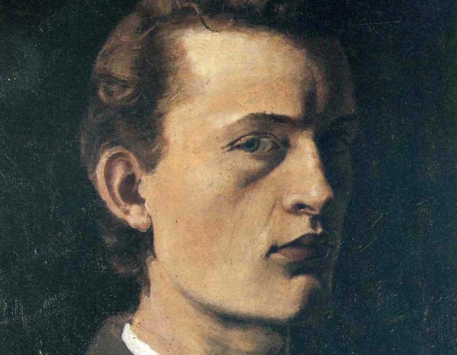 Edvard Munch. Autorretrato (1882) | Google Art Project