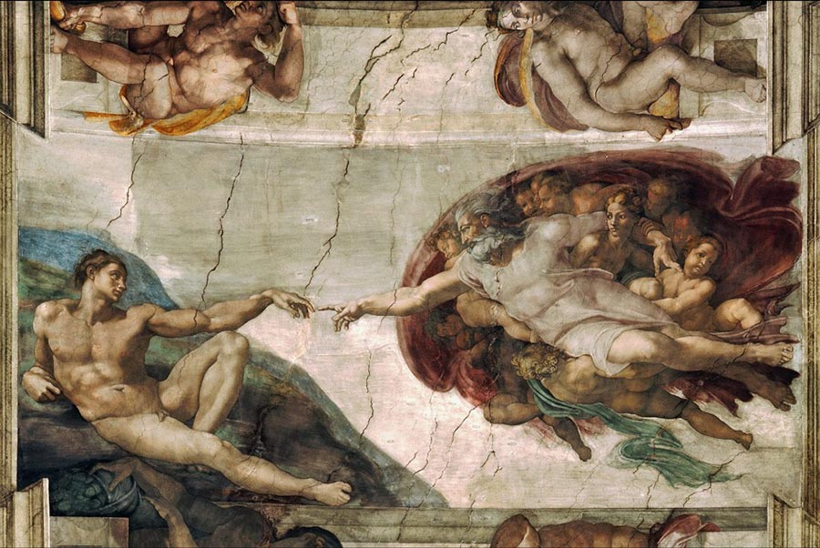 the-creation-of-adam-michelangelo