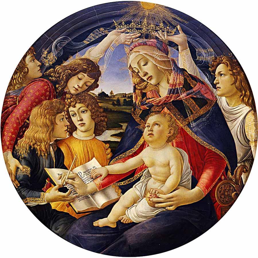 Sandro Botticelli, Madonna del Magnificat (Galeria Ufizzi)