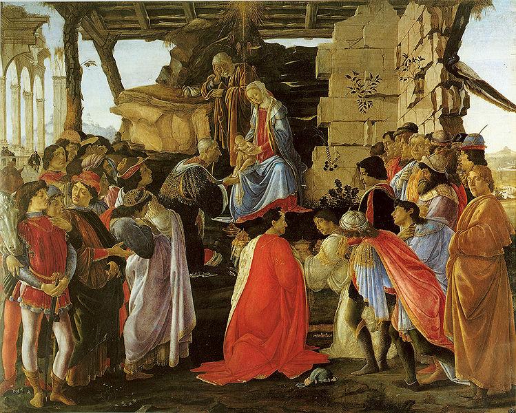 Botticelli:adorazione dei magi. Uffizi(cerca de 1475)
