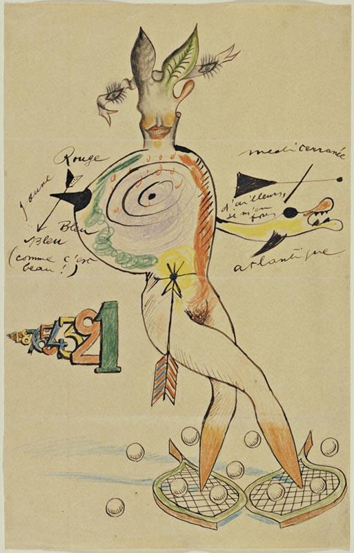 surrealismo; Cadavre Exquis. Yves Tanguy, Joan Miró, Max Morise, Man Ray (1927)