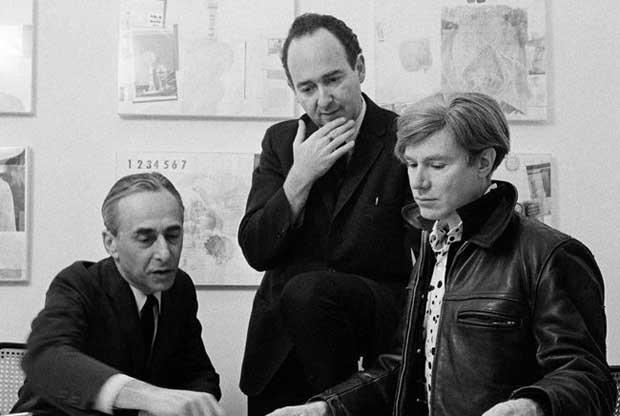 Leo Castelli-Ivan Karp-Andy Warhol-Sam Falk-NYT