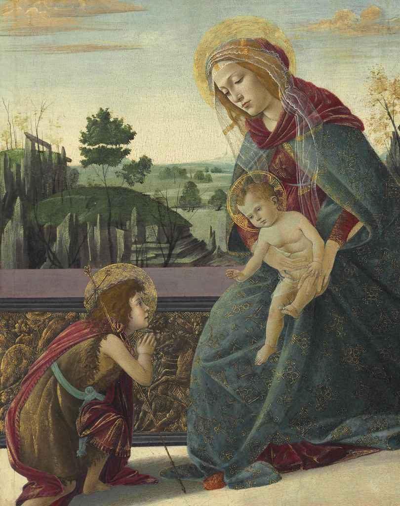 Madonna e criança com o jovem São João Batista