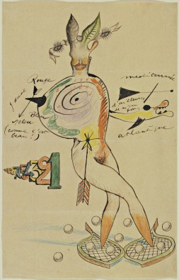 Cadavre Exquis with Yves Tanguy, Joan Miró, Max Morise, Man Ray (Emmanuel Radnitzky)