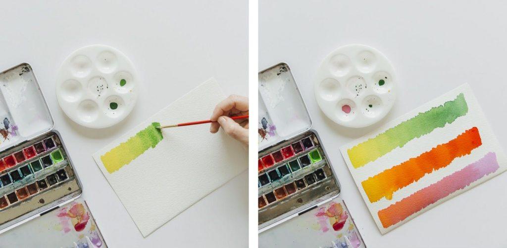 Criando gradientes aquarela