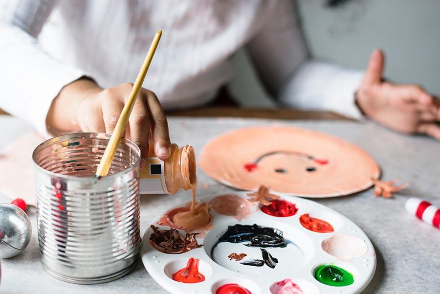 pintando com guache