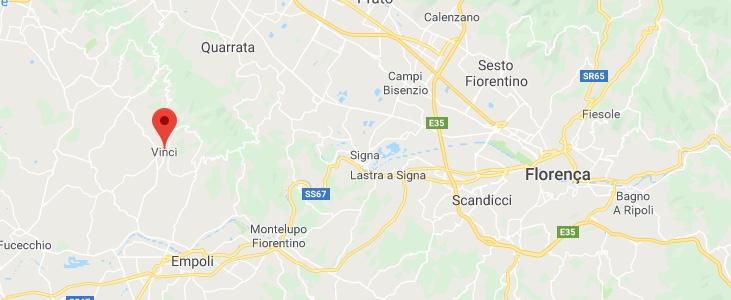 Cidade de Vince na Toscana