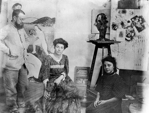 Henri Matisse, sua esposa Amélie Noellie Parayre e sua filha Marguerite