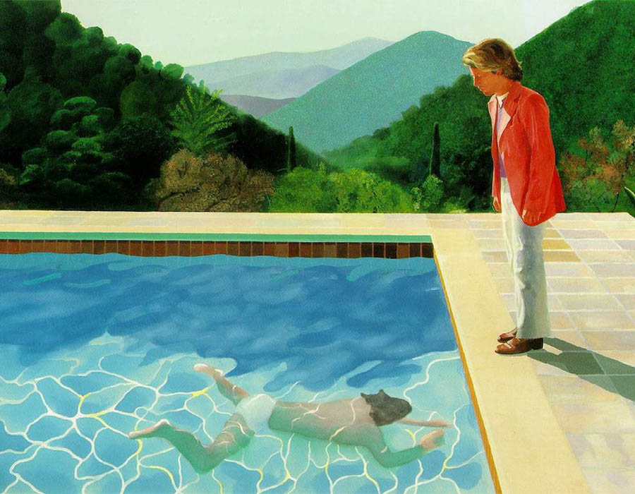 obras; Portrait of an Artist - David Hockney c