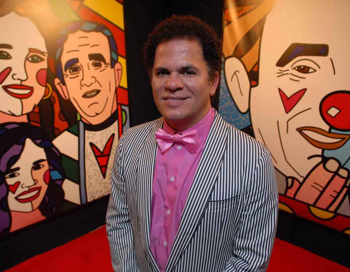 Romero Britto na festa em comemoração aos seus 50 anos de carreira do humorista Renato Aragão, no hotel Copacabana Palace.