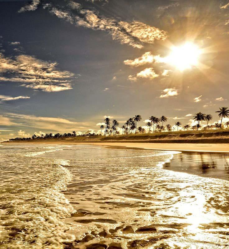 Praia paisagens