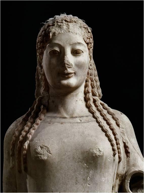 "período arcaico; ""Peplos Kore"" (c.530, Acropolis Museum, Athens"