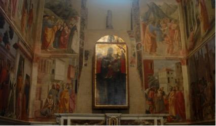 Masaccio; A Capela Brancacci, na Igreja Santa Maria del Carmine, em Florença, Itália.