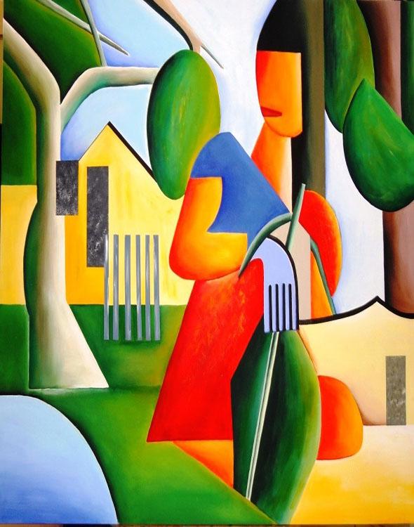 cubismo; Tarsila do Amaral; A Capirinha (1923)
