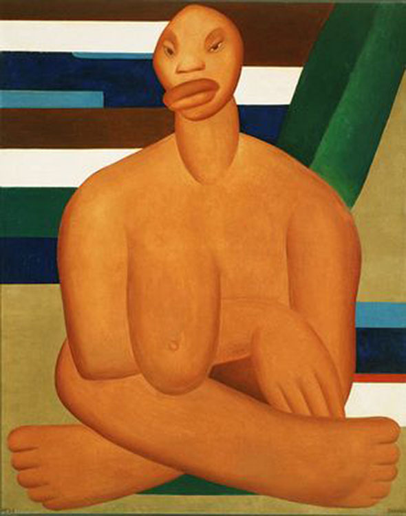 cubismo; Tarsila do Amaral; A Negra (1923)