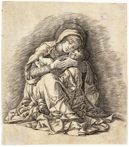 pintura renascentista; Andrea MANTEGNA (1430-5-1506). A Virgem e Criança, ca. 1485-1491